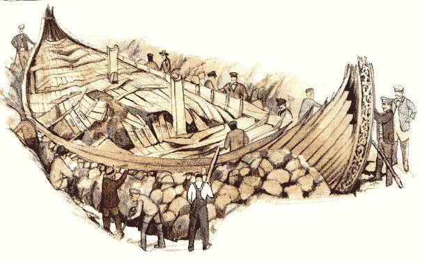 opgegraven schip